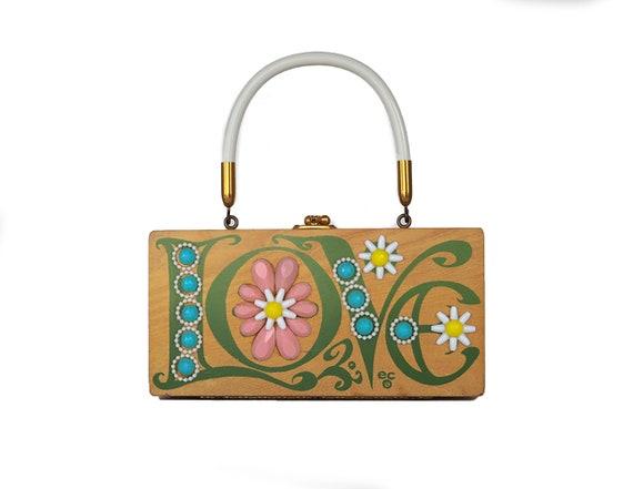 "Enid Collins of Texas 1970 ""LOVE"" box bag"