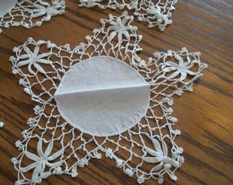 Vintage, Crocheted, Star Doily, Hand Crochet, Doilies, 5 Available, Star Design, Nice for Holidays