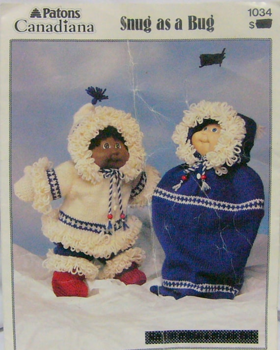 Knit Pattern Cabbage Patch Doll Cloths Eskimo Outfit Etsy