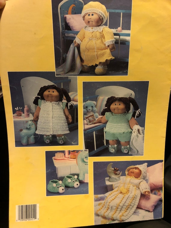 Leaflet 451-1980/'s Vintage 16 Soft Sculpture Doll Knit /& Crochet Patterns Sleepwear doll clothes; doll fashion; vintage doll clothing