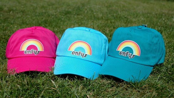 Enfys Welsh  Rainbow  Children s Baseball Cap in  31aaef74eafe