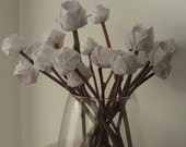 Custom for Anu-16 natural stemmed roses in white, pale blue and sky blue