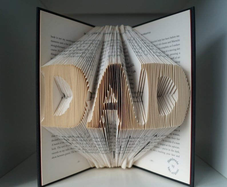 Buch Geschenk Weihnachten.Vatertag Geschenk Weihnachten Geschenk Für Papa Buch Origami Kunst Geschenk Für Lehrer Professor Geburtstag Geschenk Weihnachts Geschenk Für