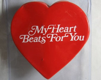 1950's Wind-Up Beating Heart My Heart Beats For You Lover Proposal Engagement Wedding