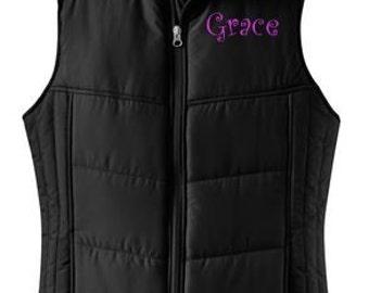 ca7889d364e2 Monogram puffy vest