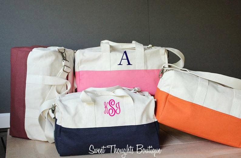 26ed050a6b21 Monogrammed Small Duffel Bag Personalized Duffel Bag Canvas