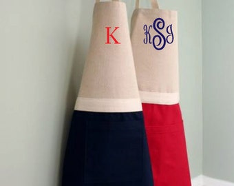 Grandma and Me Aprons, Daddy and Me Apron Set, Mommy and Me Apron Set, Mother and Daughter Aprons, Matching Mommy Apron, Monogrammed Apron