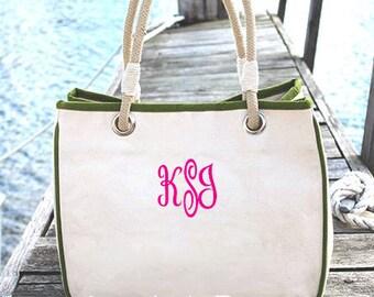 Monogrammed Bridesmaid Tote Bag, Monogram Canvas Tote Bag, Personalized Canvas Tote Bag, Bridesmaid Tote Bag, Many Colors Available