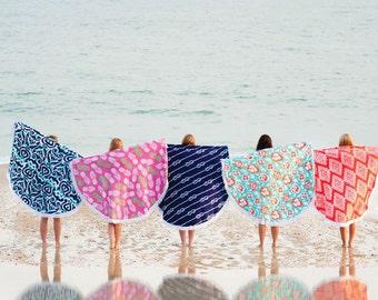 Monogrammed Round Towel, Round Beach Towel, Round Beach Blanket, Round Blanket, Circle Towel, Beach Blanket, Round Pool Towel, Round Towel