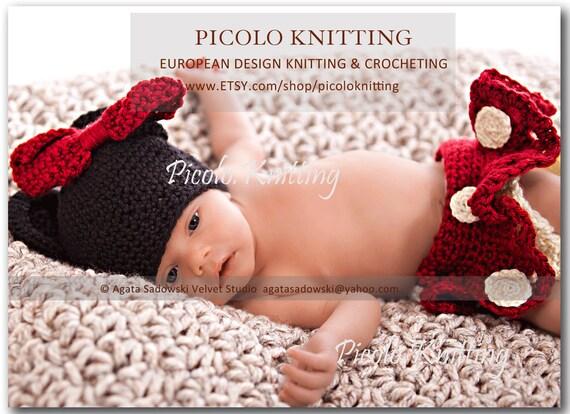 Minnie Mouse Tutu rouge Crochet nouveau-né enfant bébé Disney   Etsy 3feb7fbd4bb