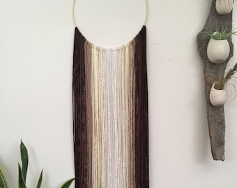 Toasted Marshmallow Yarn Wall Hanging- Large/Neutral