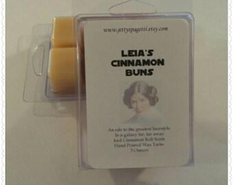 Leia's Cinnamon Buns Scented Wax Tarts- Clamshell tarts