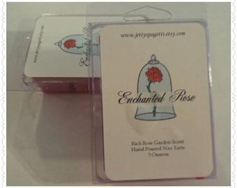 Enchanted Rose Scented Wax Tarts - Clamshell tarts -Beauty and the Beast Wax melt