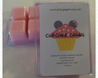 Cupcake Crawl Scented Wax Tarts- Clamshell tarts -Buttercream Frosted Cupcake Scent