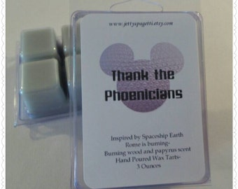Thank the Phoenicians Scented Wax Tarts- Clamshell tarts -Rome is Burning fragrance