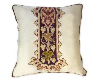 Heirloom Silk Petit Point Pillow