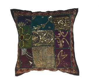 Pillow 491 Bohemian Red Patchwork