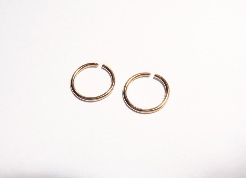 Gold Filled 14k Nose Ring Thin Nose Hoop Size 6mm 8mm Etsy