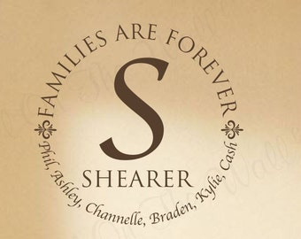 Family Wall Decal Home Decor Families Are Forever Wall Saying Personalized Wall  Decals LDS Saying Decal Last Name Wall Vinyl Foyer Decor