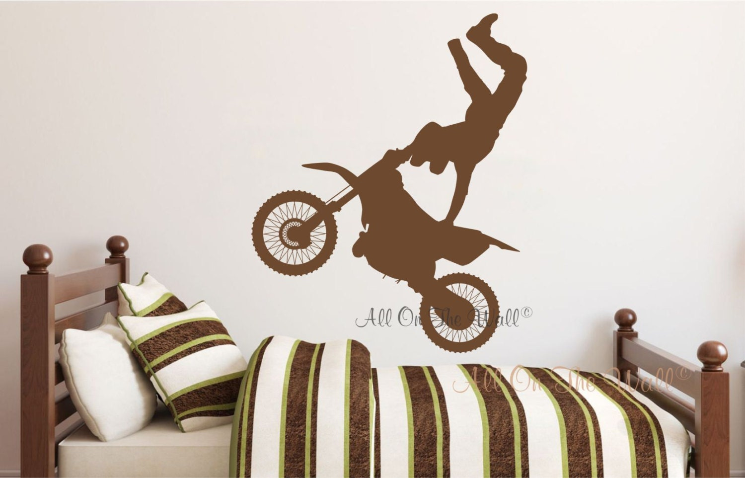 Dirt Bike Decals Motorcycle Wall Decal Boys Bedroom Decals Etsy