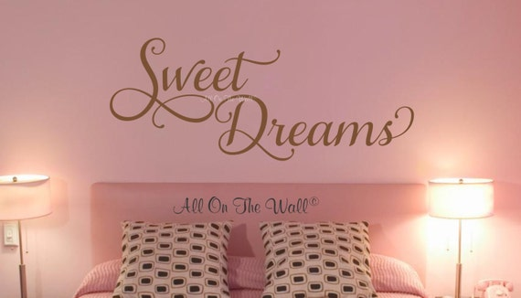 Sweet Dreams Wall Decal Bedroom Decals Guest Bedroom Decals Goodnight  Decals Bedroom Wall Decor Master Bedroom Dream Sticker Decals Nursery
