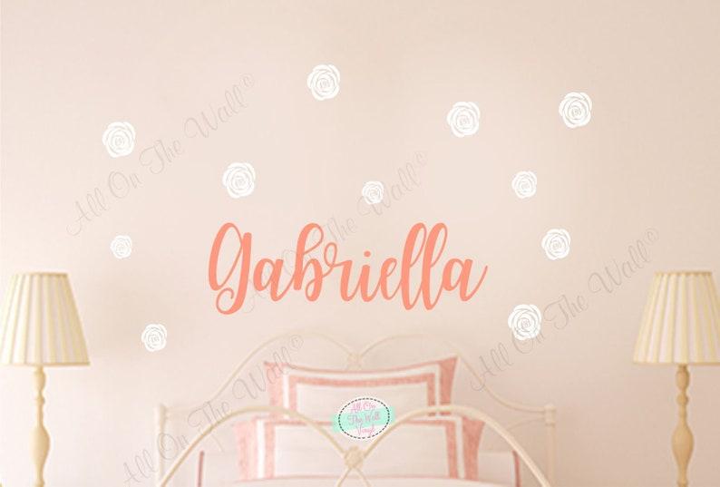 Girl Name Wall Decal Name Wall Decor Sticker Girl Bedroom Wall   Etsy