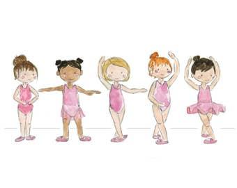 Ballet Positions Watercolor