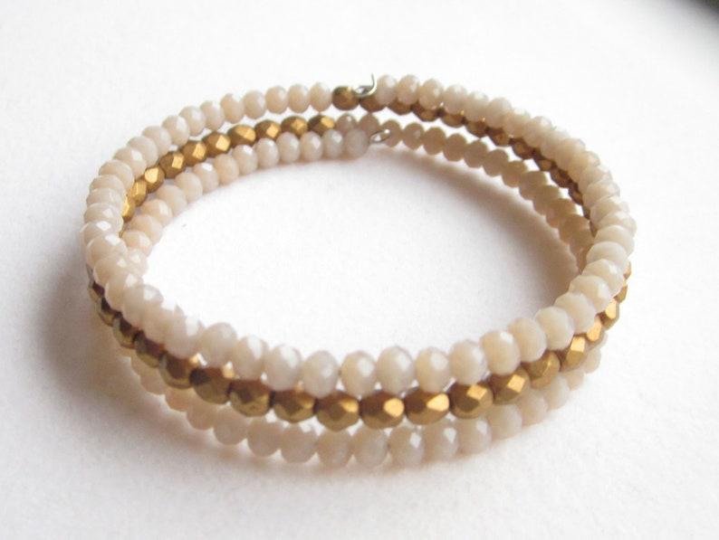 bracelet caramel golden Bangle