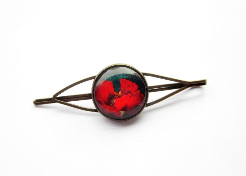 bronze, poppy plain minimalist hair clip hair clip
