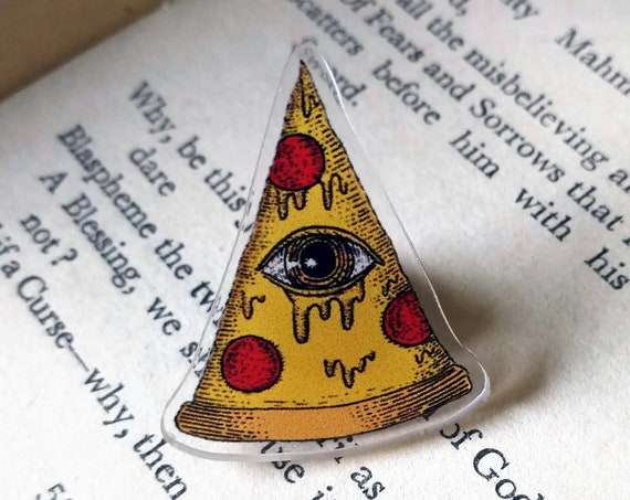 Pizzalluminati Acrylic Pin Badge