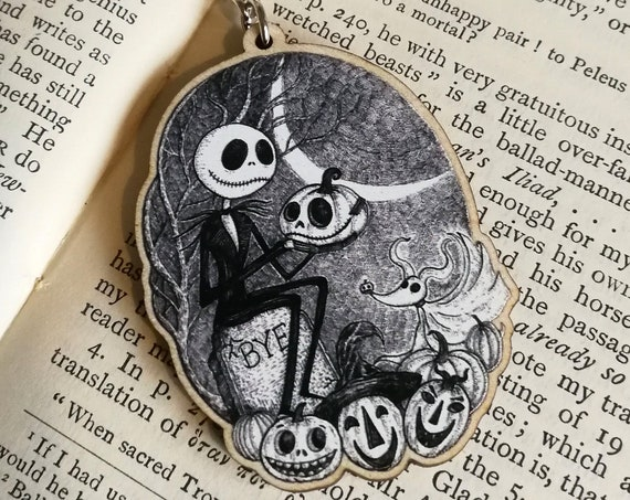 This Is Halloween Wooden Keychain- Jack Skellington inspired