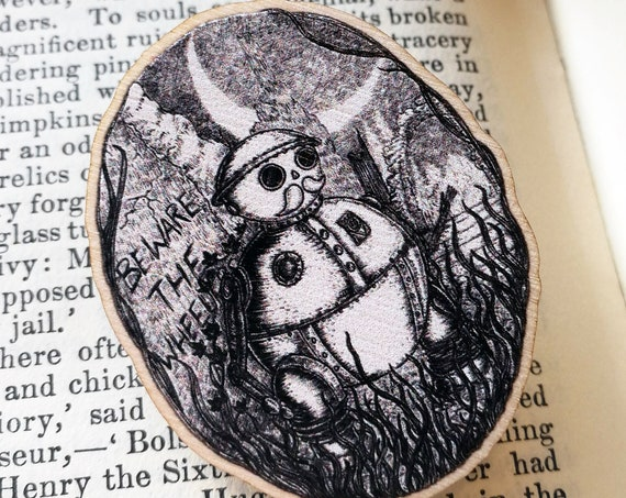 Tik-Tok Wooden Pin Badge- Return to Oz inspired