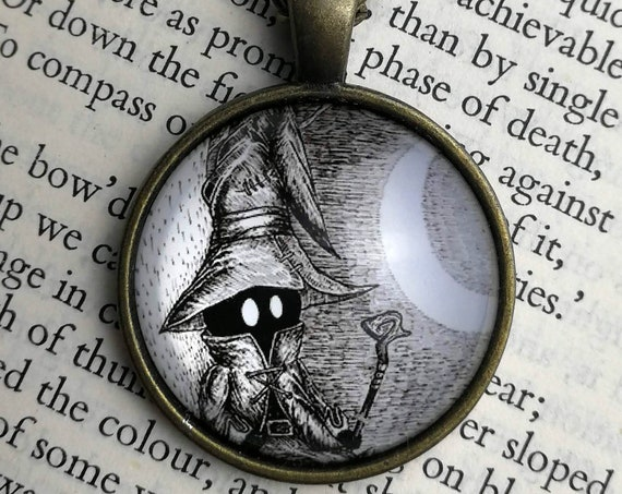 Vivi Necklace- Final Fantasy Dark Mage inspired Circular Art Necklace