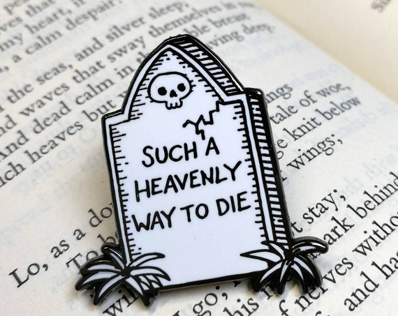 Such A Heavenly Way To Die- Smiths inspired Gravestone Hard Enamel Pin Badge