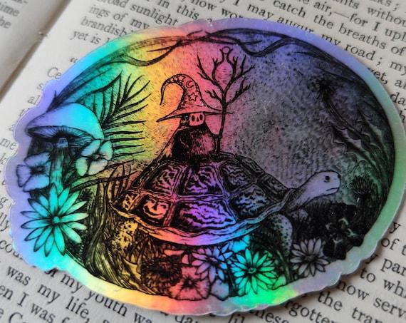 The Wizard of Springtime holographic vinyl sticker- shiny laptop sticker