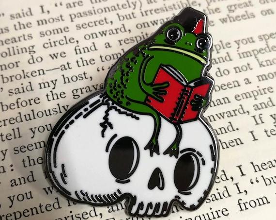 Studious Marshtoad Hard Enamel Pin Badge