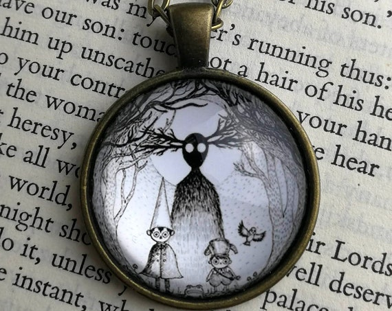Into The Unknown Necklace- Over The Garden Wall Inspired Circular Art Pendant