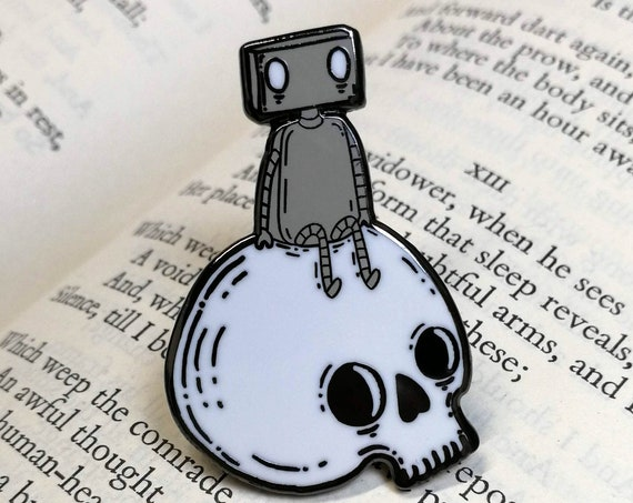 Skull Robot Hard Enamel Pin Badge