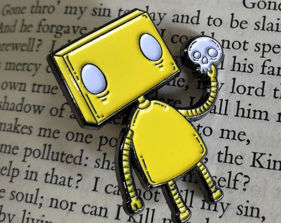 Alas! Robot Enamel Pin Badge- Special Colour Variants!