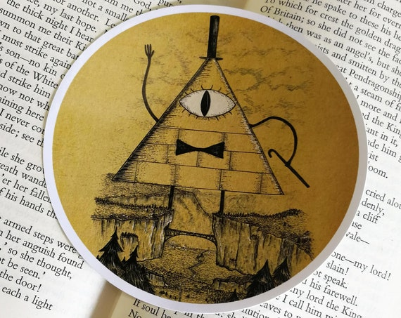 Bill Cipher vinyl sticker- Gravity Falls inspired laptop sticker