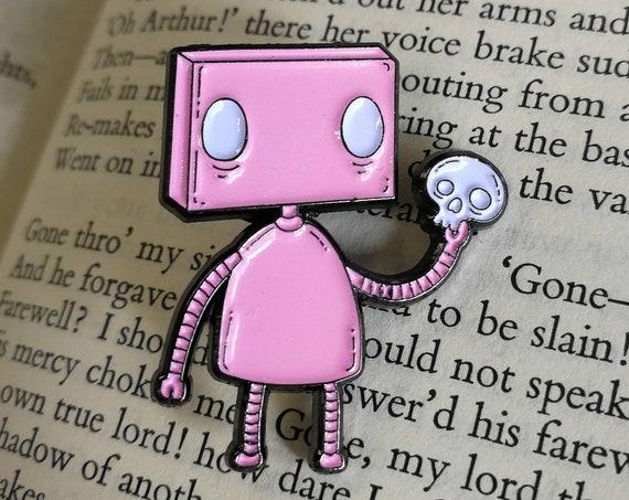 Alas! Robot Enamel Pin Badge- Special Colour Variants!