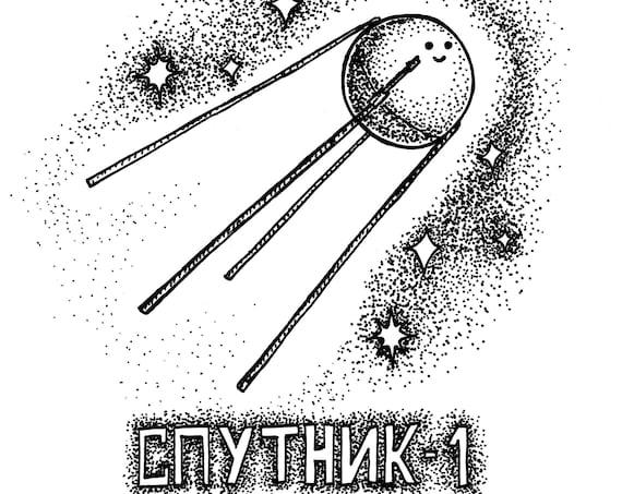Sputnik- art print- 8x10 A4 A3