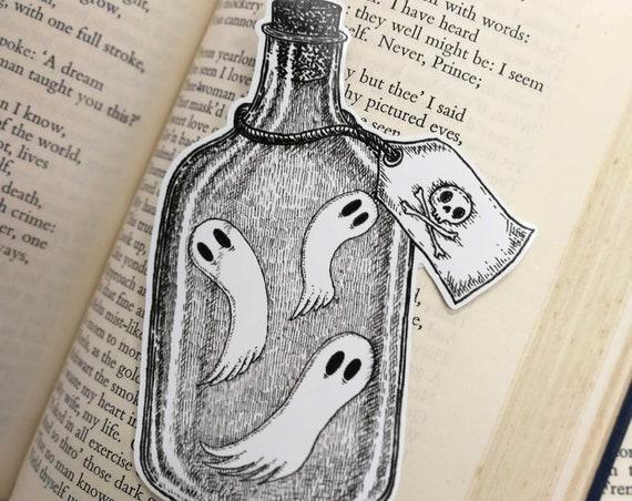 Bottled Spirits vinyl sticker- ghosts laptop sticker