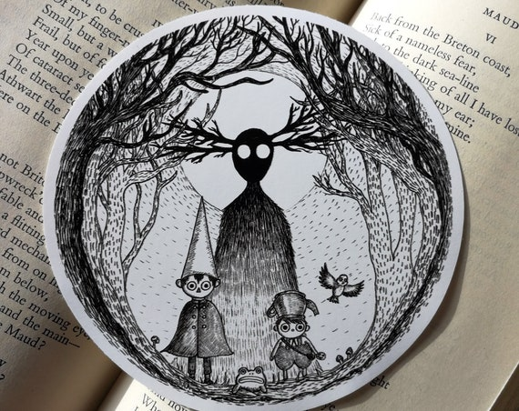 Into The Unknown vinyl sticker- Over The Garden Wall inspired laptop sticker