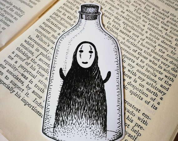 Spirit in a Bottle vinyl sticker- No Face laptop sticker