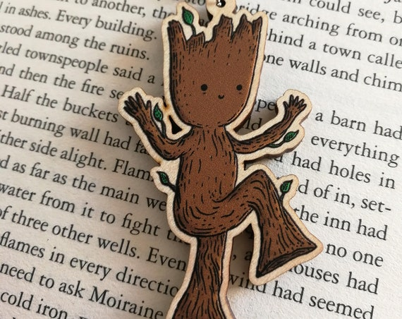 Baby Groot Wooden Keychain