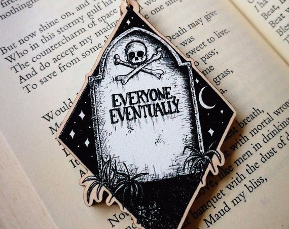 Everyone Eventually wooden keychain- memento mori