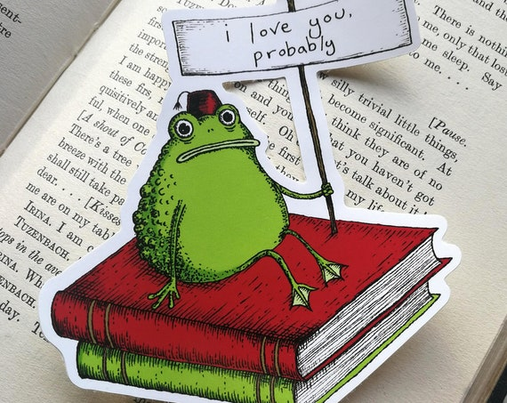 I Love You Probably Toad vinyl sticker