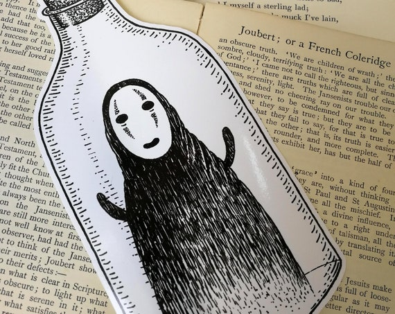 Spirit in a Bottle large vinyl sticker- No Face laptop sticker
