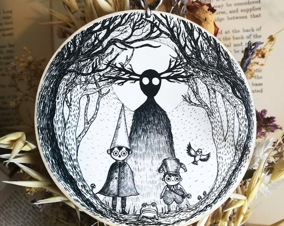 Into The Unknown- Over the Garden Wall Inspired Wooden Hanging Decoration